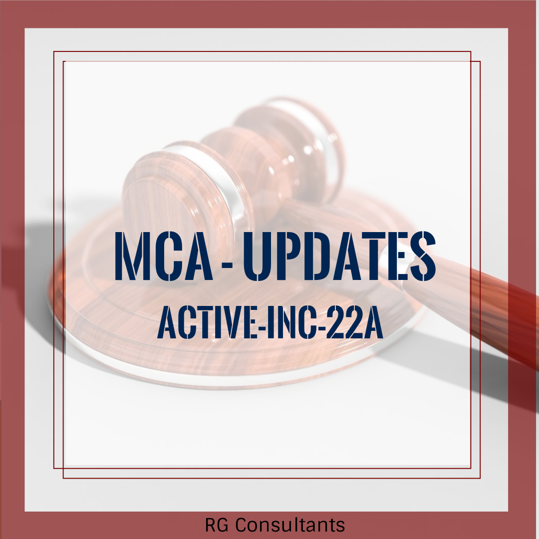Requirement of filing ACTIVE (Company KYC) form ACTIVE-INC-22A