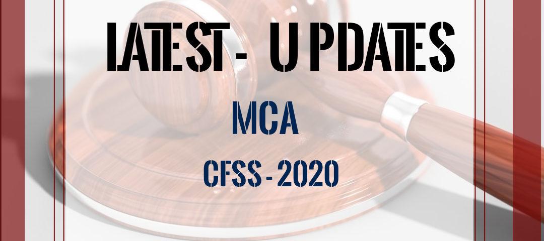 MCA updates - CFSS 2020
