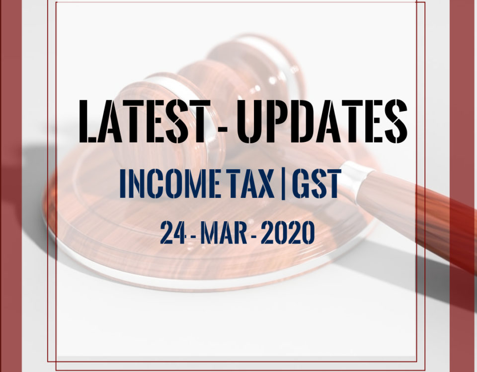 Finance Minister Announcement on 24.03.2020