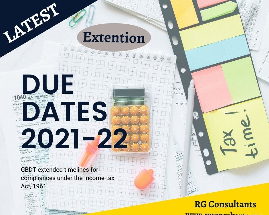 Due date extension income tax - Latest Notification 21/05/2021